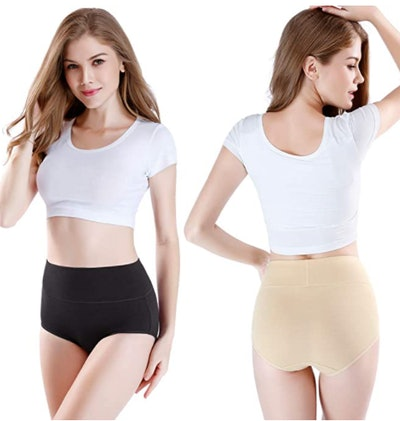 wirarpa High Waisted Cotton Underwear (4-Pack)
