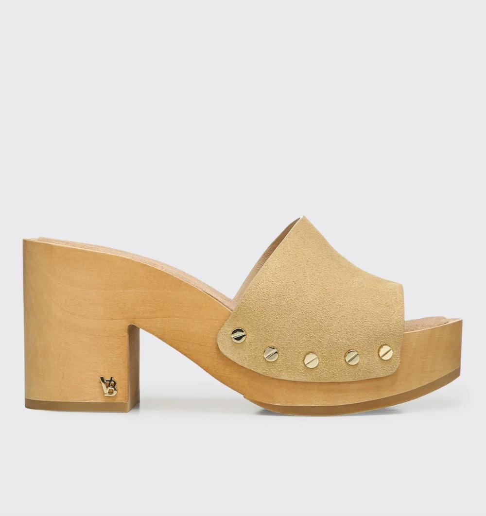 Hannalee Suede Clog Sandals