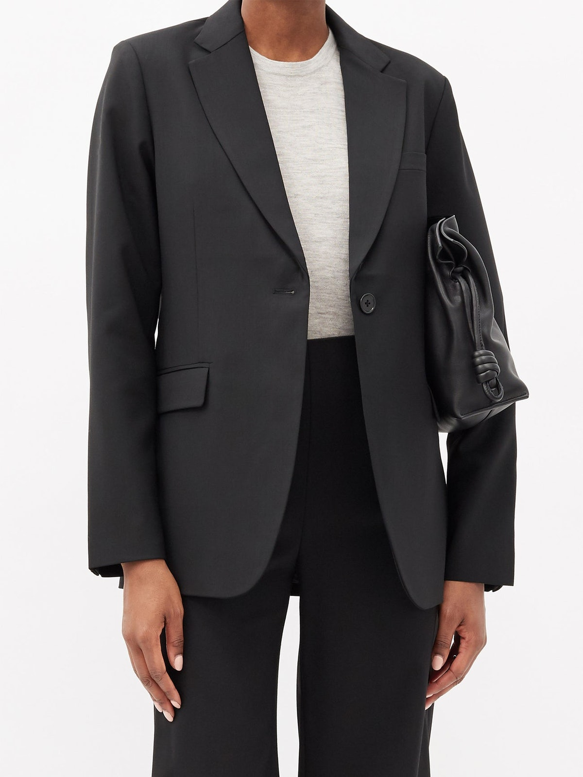 Single-Breasted Wool-Twill Suit Jacket