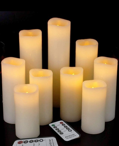 Antizer Flameless Candles (9 Pieces)