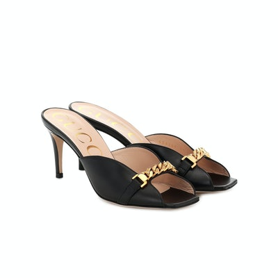 Gucci Sylvie Leather Sandals
