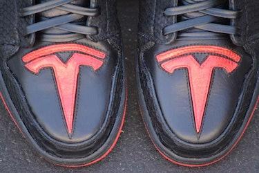Elon Musk Jordan sneakers.