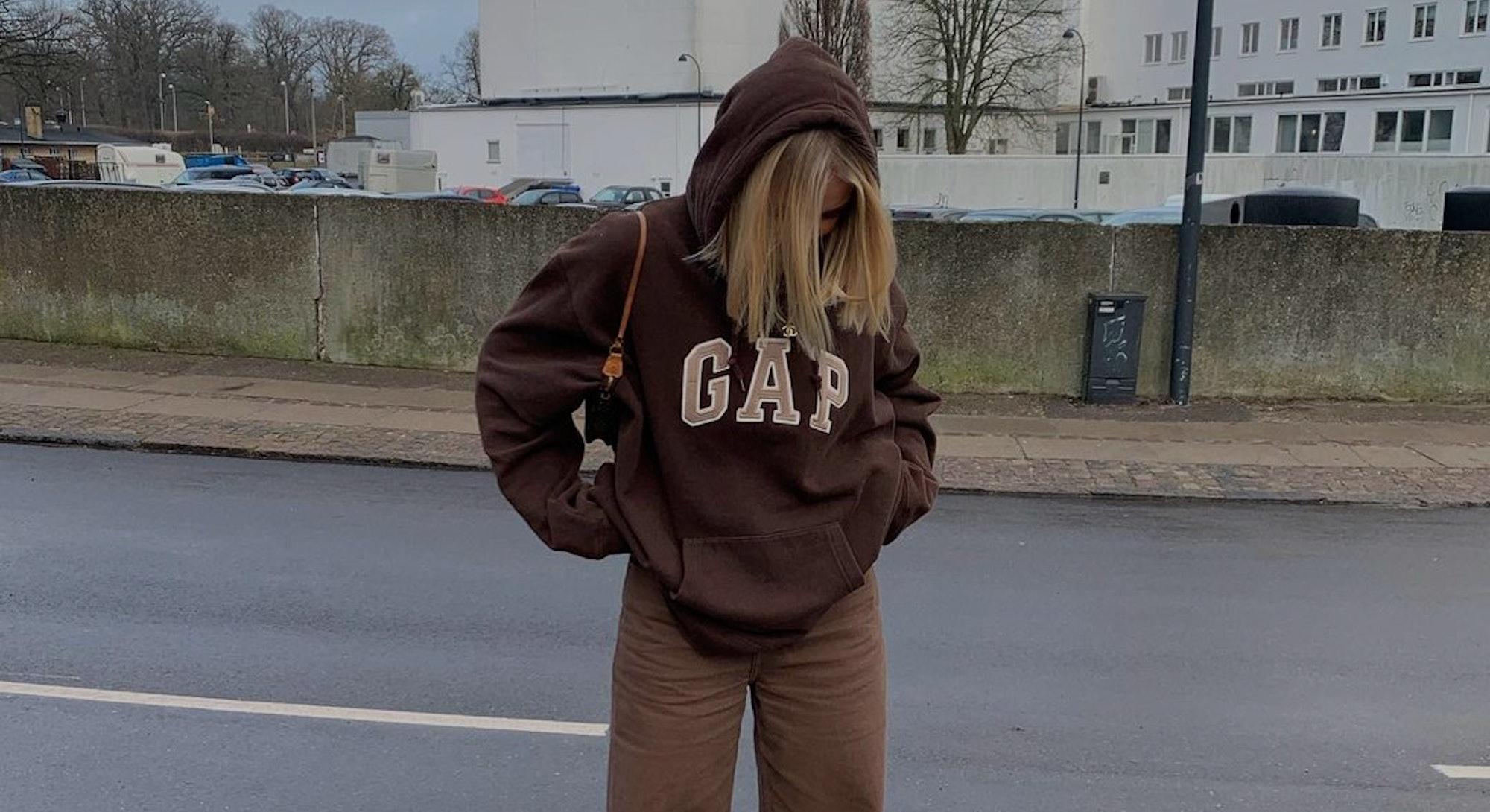 Gap hoodie brown vintage.