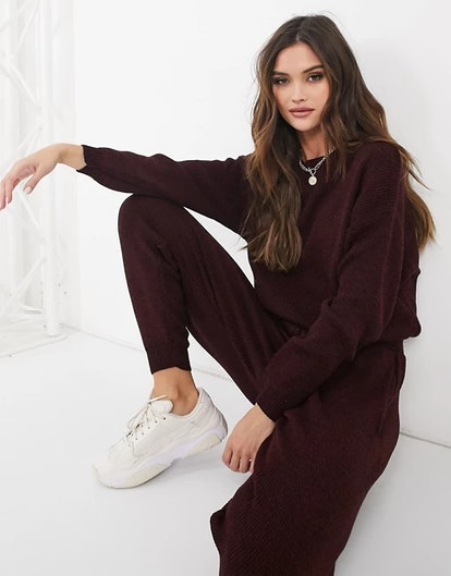 Femme Luxe Knitted Oversized Sweater and Sweatpants