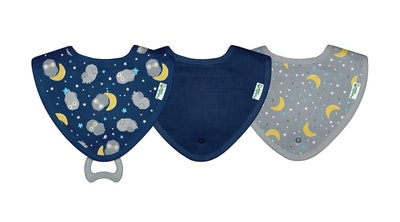 Muslin Stay-Dry Teether Bibs Made From Organic Cotton