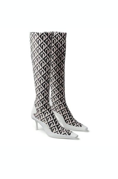 Moon Lozenge Socks High Boots