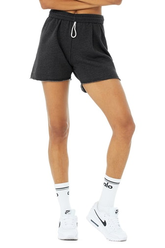 Gym Sweat Short in Dark Heather Grey