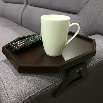 Wooden Sofa Couch Armrest Clip-On Table