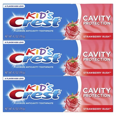 Crest Kid's Strawberry Rush Fluoride Toothpaste (3-Pack)