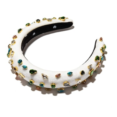 Ivory Padded Candy Jeweled Headband
