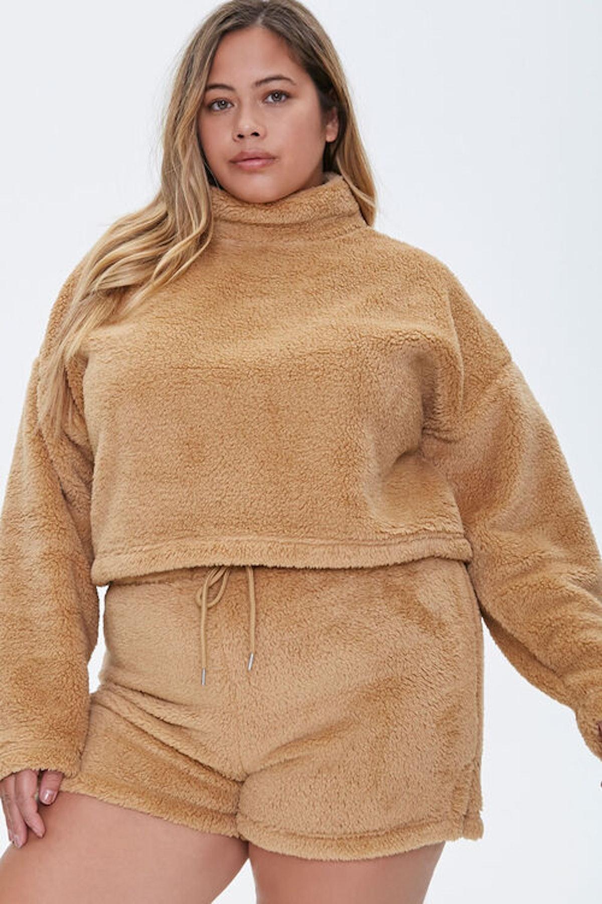 Forever 21 Plus Size Fuzzy Shorts