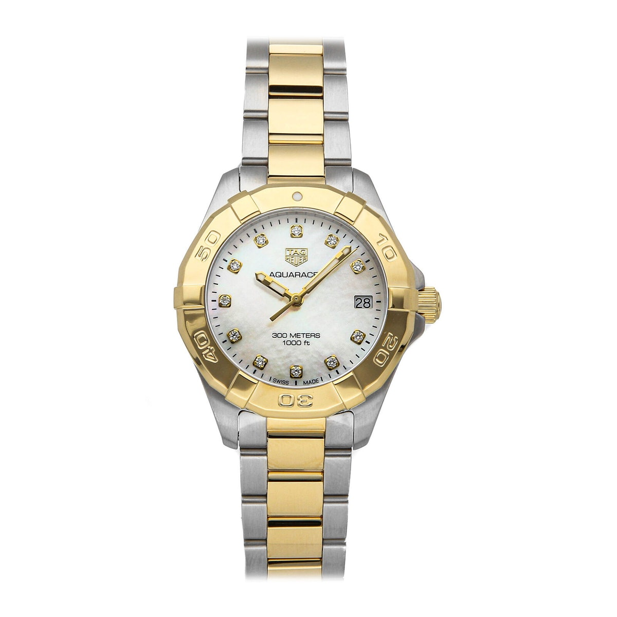 Aquaracer White Mother of Pearl Women's Watch