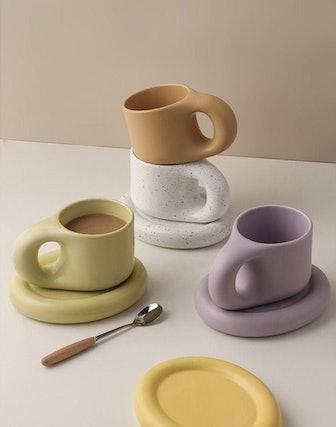 Nordic Style Mug and Coaster Set