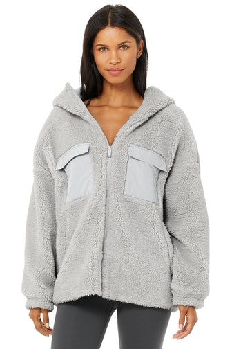 Cargo Sherpa Jacket in Dove Grey
