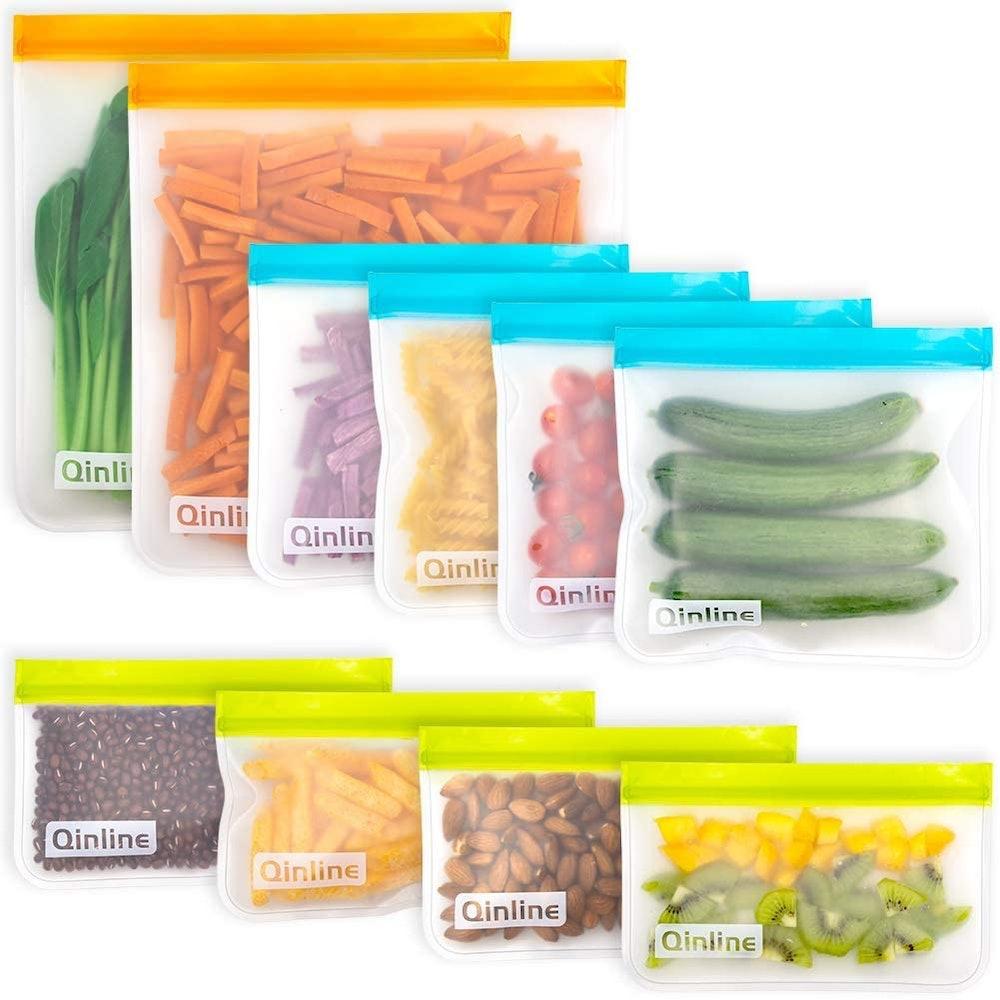 Zip Top Store Reusable Food Storage Bags (10-Pack)
