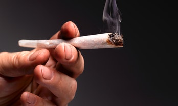 Lit marijuana joint