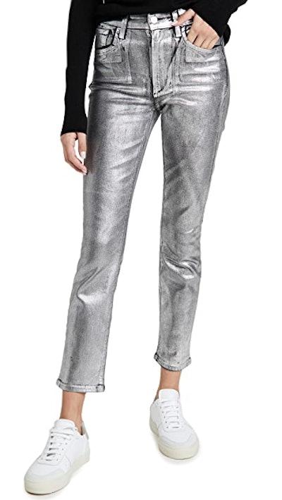 Joe's Jeans The Luna Ankle Metallic Lacquer Jeans