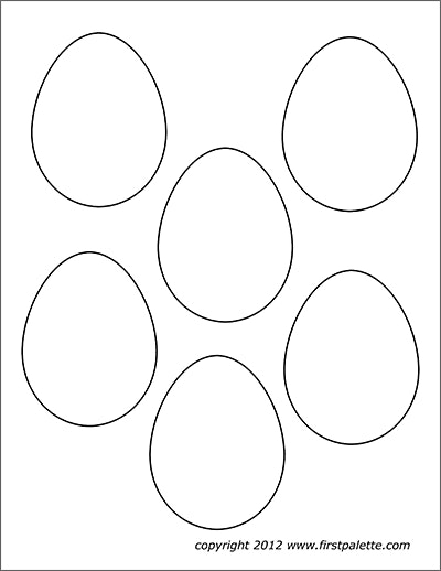 Plain Easter Eggs Set of 5