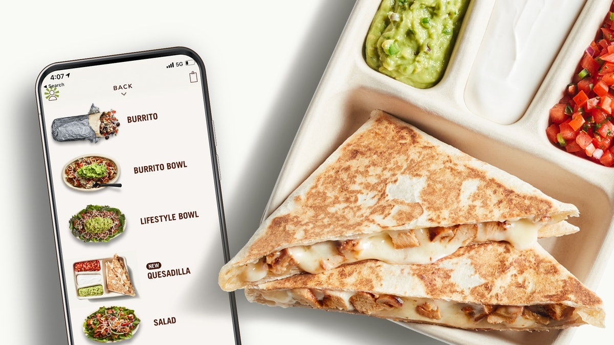 You can order Chipotle's new Hand-Crafted Quesadilla online.