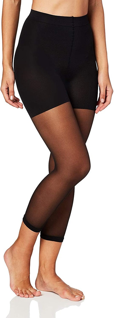 MeMoi Sheer Footless Capri Shaper Tights