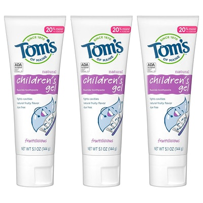 Tom's of Maine Natural Children's Fluoride Toothpaste (3-Pack)