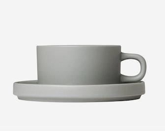 Blomus Mio Tea Cups w/ Saucer - Set of 2