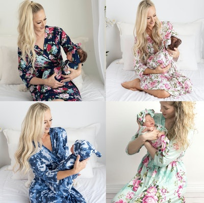Labor and Delivery Matching Gown and Baby Set