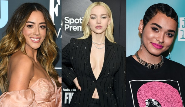 The CW's 'The Powerpuff Girls' cast Chloe Bennet as Blossom Dove Cameron as Bubbles, and Yana Perrault as Buttercup