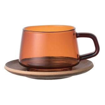 Sepia Teak Cup and Saucer Amber