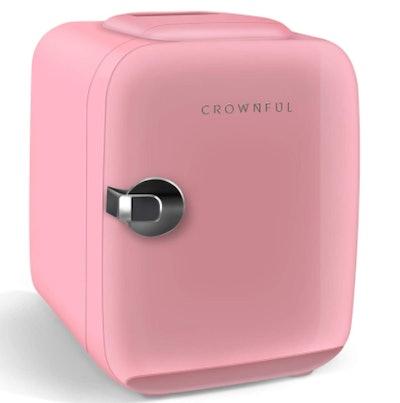 CROWNFUL Portable Mini Fridge (4 Liter/6 Can)
