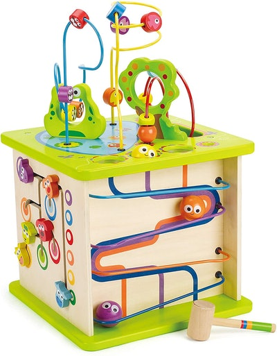 Country Critters Wooden Activity Play Cube by Hape