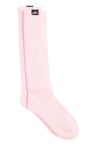 Scrunch Socks in Powder Pink