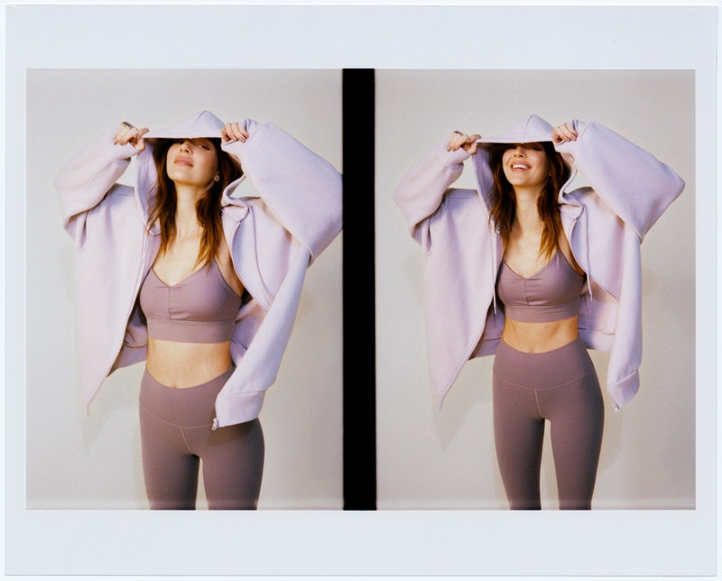 Kendall Jenner wearing Alo Yoga for her campaign.