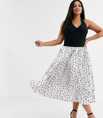 Outrageous Fortune Plus Pleated Midi Skirt