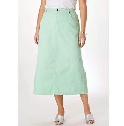 Jessica London Long Denim Skirt