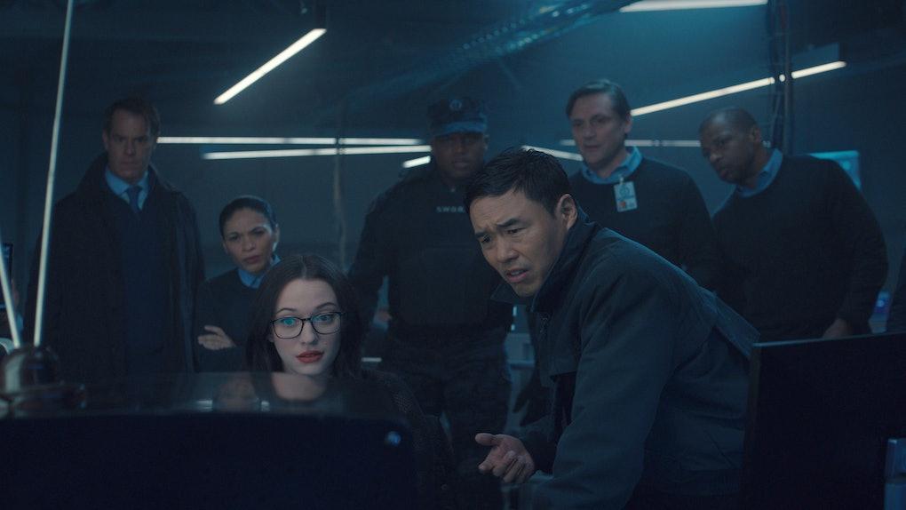 Darcy & Jimmy Woo staring at WandaVision