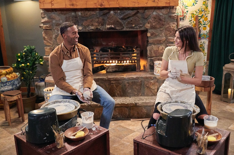 Matt James and Rachael Kirkconnell's fantasy suite date. Photo via ABC
