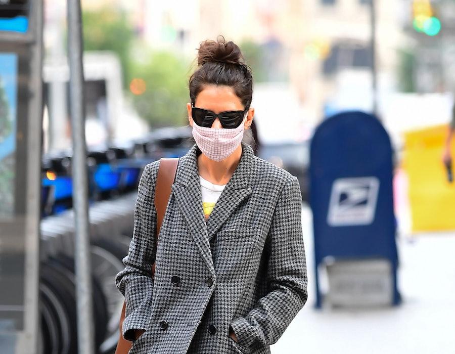 Katie Holmes is seen walking in Soho on September 16, 2020 in New York City.