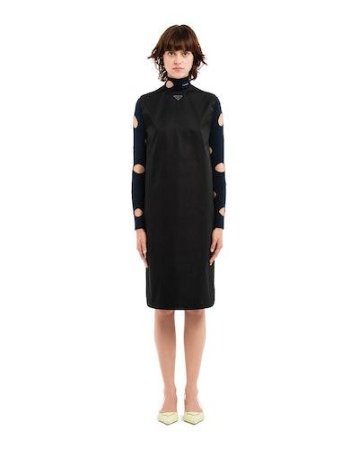 Re-Nylon Gabardine Sleeveless Dress