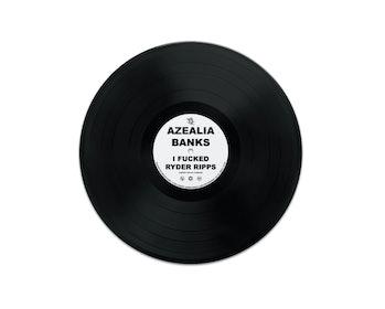 A screenshot of Foundation marketplace's vinyl record of Azealia Banks' sex tape recording.
