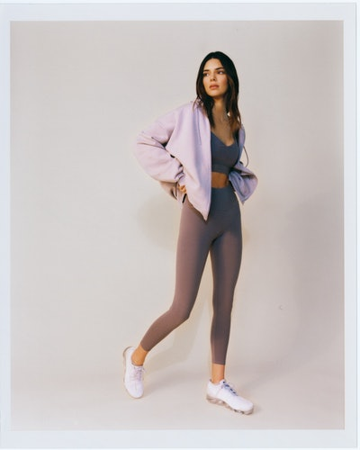 Kendall Jenner self-styled for Alo Yoga campaign.