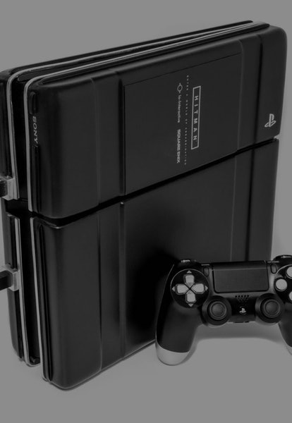sony playstation 4 hitman console in the shape of briefcase