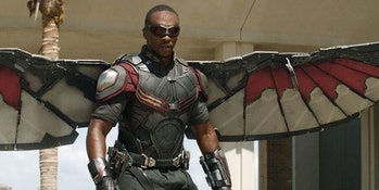 Anthony Mackie as Falcon in the MCU.