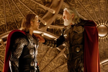 Chris Hemsworth and Anthony Hopkins in 2011's Thor