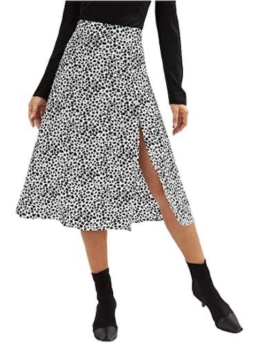 SweatyRocks Split A-Line Midi Skirt