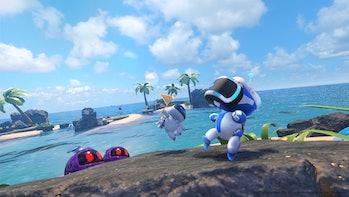 astro bot rescue mission vr psvr astro platformer beach