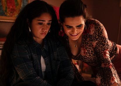 Haley Sanchez as Greta and Nava Mau as Ana in Generation.