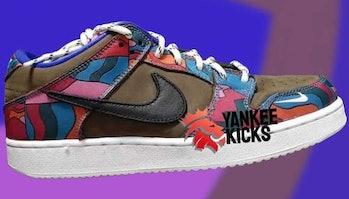 YankeeKicks Parra x Nike SB Dunk makeup