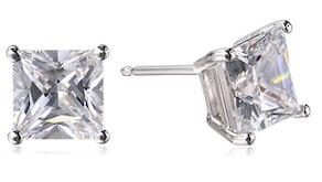 Amazon Essentials Cubic Zirconia Stud Earrings