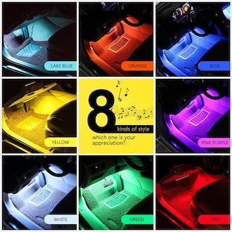 wsiiroon Car LED Strip Lights